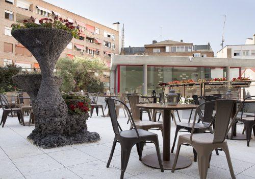 Terraza cafeteria.